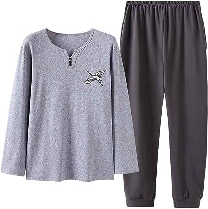 Sikungjlk Conjunto de Pijamas para Hombres Los Hombres de ...