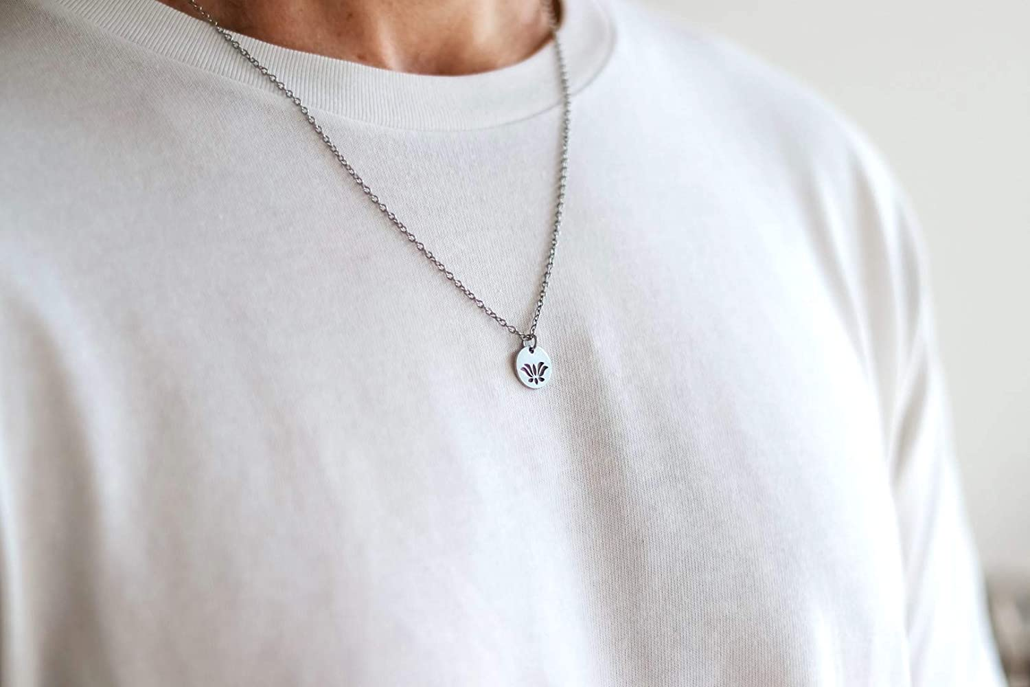 Stainless steel chain necklace 0.47 inch