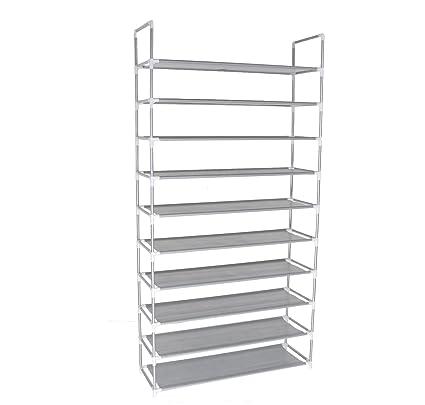 Charmant 10 Tier Shoe Rack Space Saving Shoe Tower Shelf Cabinet, 50 Pairs Portable  Shoe