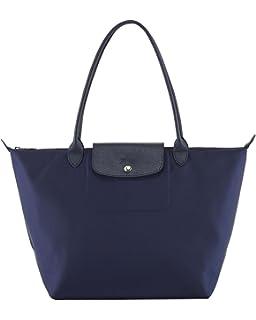 Amazon.com  Longchamp Pliages Black Medium Tote Bag Purse  Shoes c7ae8199bf