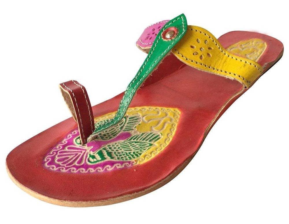 Step n Style Womens Kolhapuri Chappal Mojari Sandals Khussa Shoes Handmade Jooties DD527
