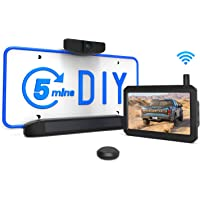 Solar Wireless Backup Camera Kit, 5 Mins DIY Installation, 5-inch Monitor and HD Image Rear View Camera for Cars and…
