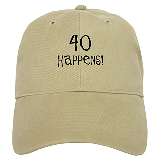 081cf9a7909 CafePress - 40Th Birthday Gifts 40 Happens - Baseball Cap with Adjustable  Closure