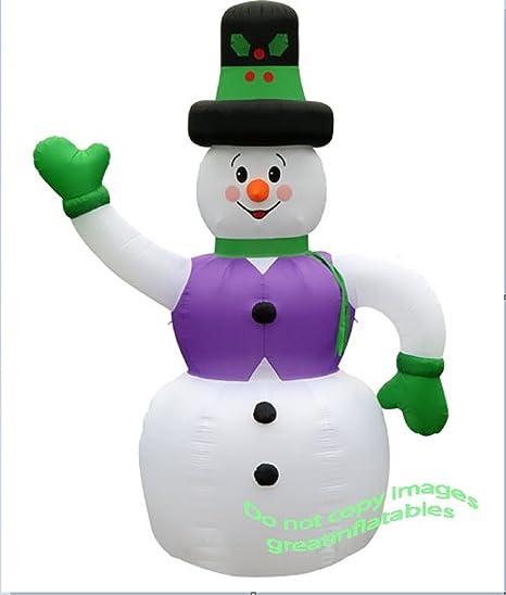 Amazon.com: Inflable gigante 20 Muñeco de nieve con ...