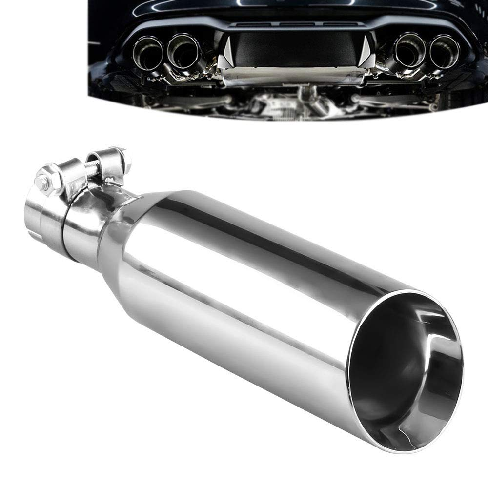 Ocamo Universal 12' Stainless Steel Car Exhaust Tail Muffler Tip Pipe 2' Inlet 3.5' Outlet