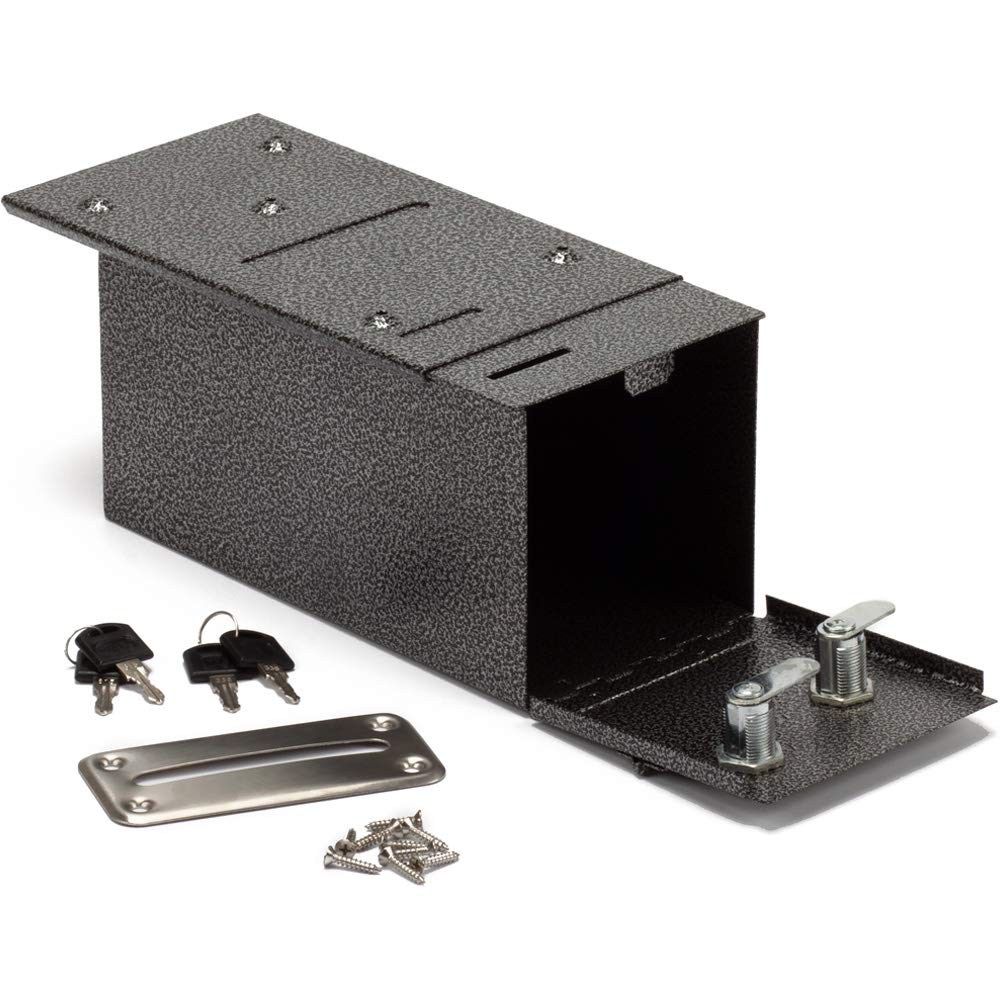 GSE Games & Sports Expert Steel Rake Toke Drop Box with Money Bill Slot & 9 Install Screws. Great for Casino Poker Tables