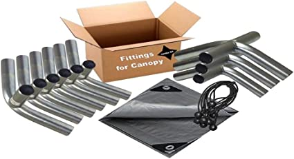 Amazon Com 12 X20 Heavy Duty 1 3 8 Carport Canopy Kit Silver Tarp Foot Pads Poles For Legs Roof Not Included Garden Outdoor