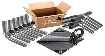 12u0027x20u0027 Heavy Duty 1-3/8u201d Carport Canopy Kit Silver  sc 1 st  Amazon.com & Amazon.com: 12u0027x20u0027 Heavy Duty 1-3/8u201d Carport Canopy Kit Silver ...