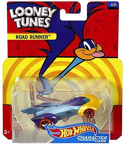 Hot Wheels Road Runner Looney Tunes Character Car Diecast 1:64 Scale
