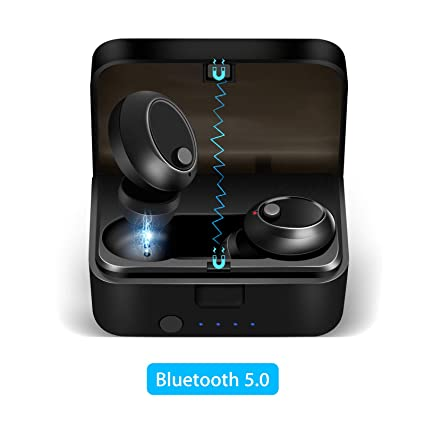 c8b6a0ec2c7 EEEKit True Wireless Earbuds Bluetooth 5.0 Headphones, Sports in-Ear TWS  Stereo Mini Headset