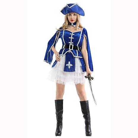 PU-FESTIVAL Disfraz de Cosplay Disfraz de Pirata para Mujer ...