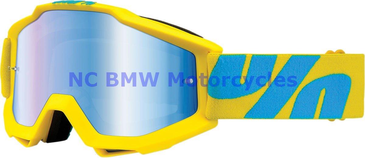 100% Motorcycle Riding Goggle Accuri FIJI Mirror Blue Lens 50210-105-02