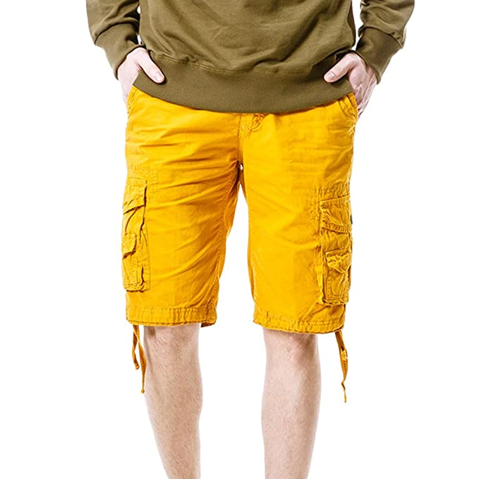 Moollyfox Hombre Vintage Suelto Pantalones Cortos Bermudas Sport Casual Ds5u2ezrp