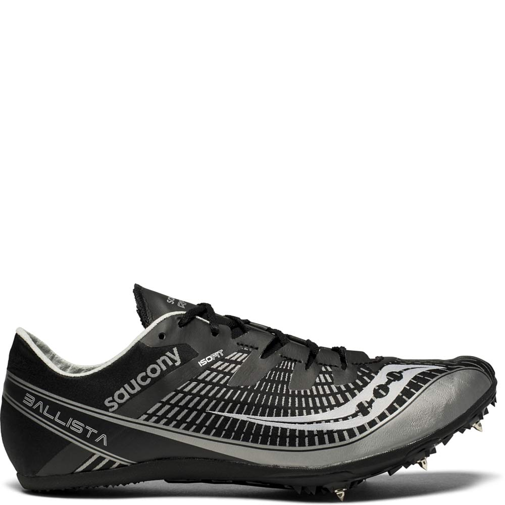 Saucony Men's Ballista 2 Track and Field Shoe, Black/Silver, 7.5 Medium US