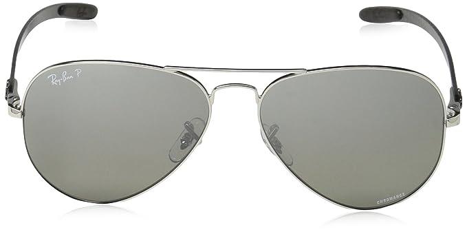 080c49c9c65 Amazon.com  Ray-Ban Unisex RB8317CH Chromance Lens Aviator Sunglasses