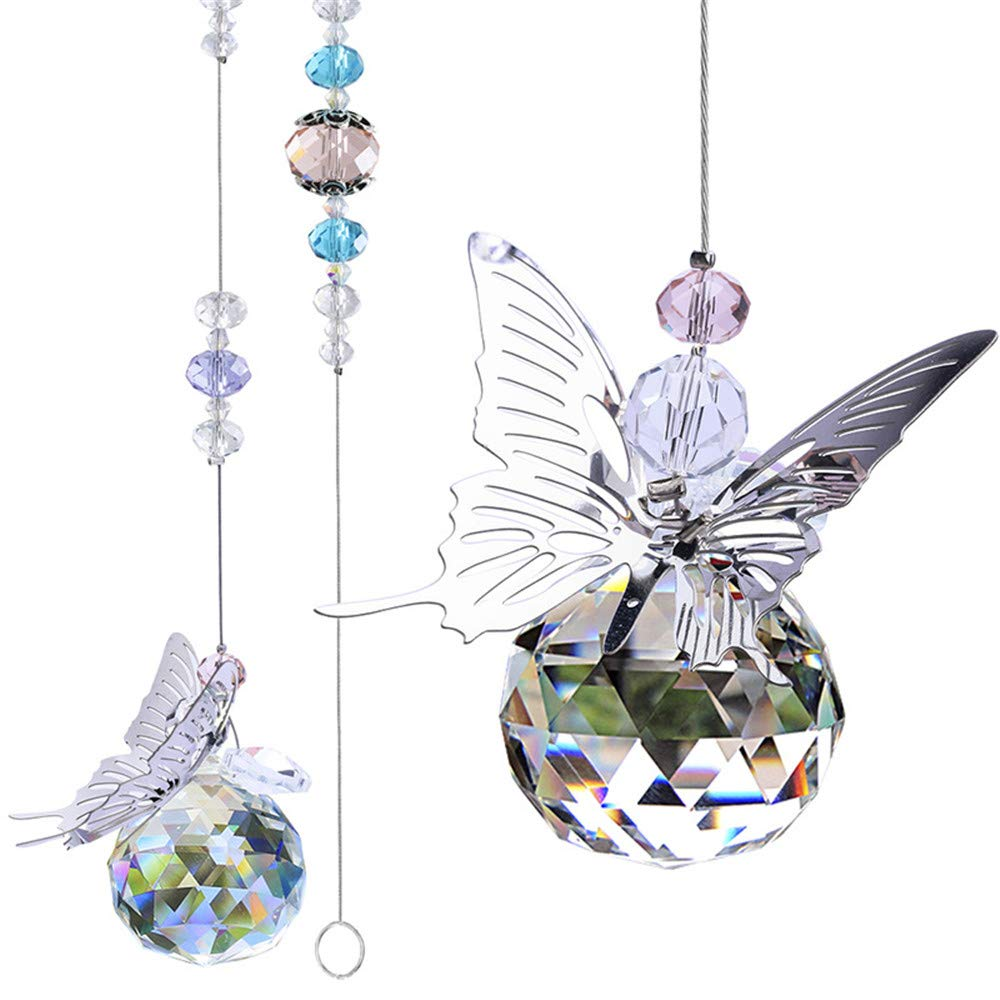 Crystal ball with butterfly
