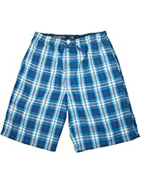 Hanes Men's Cotton Madras Drawstring Sleep Pajama Shorts