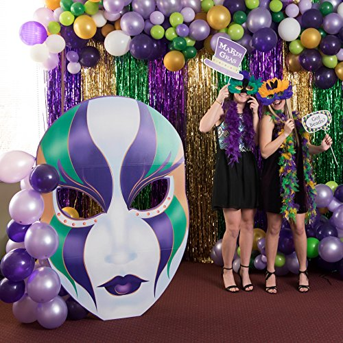 Giant Mardi Gras Masquerade Cutout Standee Standup Photo Booth Prop Background Backdrop Party Decoration Decor Scene Setter Cardboard Cutout ()