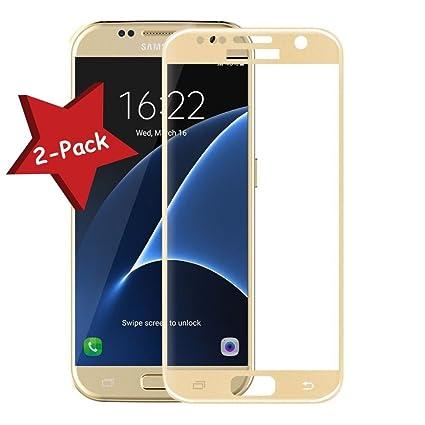"[Pack de 2] Protector de Pantalla Cristal Templado para Samsung Galaxy S7 """