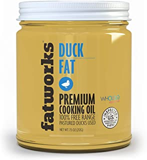 product image for Fatworks, Premium Pasture Raised NON-GMO FED Duck Fat, WHOLE30 Approved, KETO, Paleo, Small Family Farm Sourced, 7.5 oz.