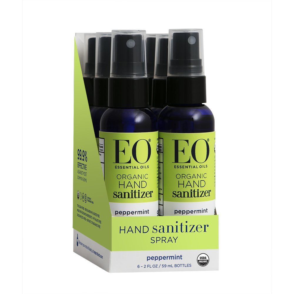 Eo Products Hand Sanitizer Spray Travel Size Organic