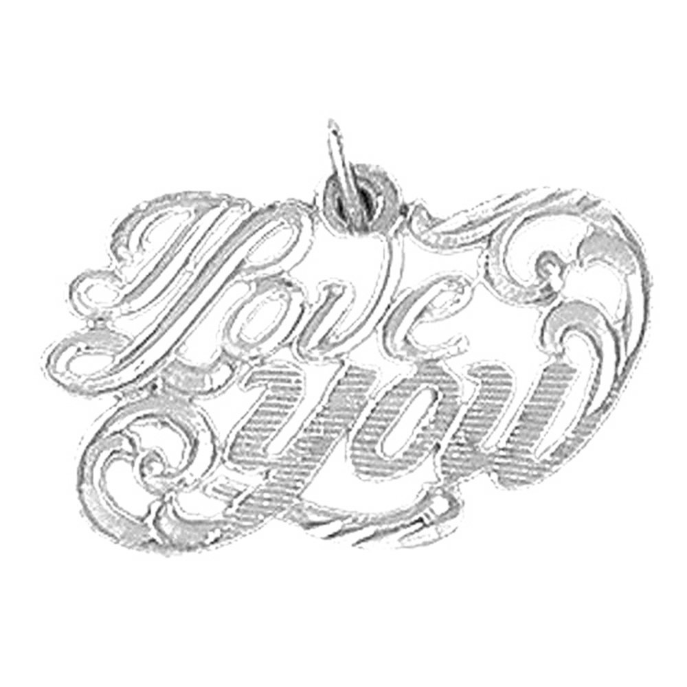 Rhodium-plated 925 Silver I Love You Pendant with 18 Necklace Jewels Obsession I Love You Necklace