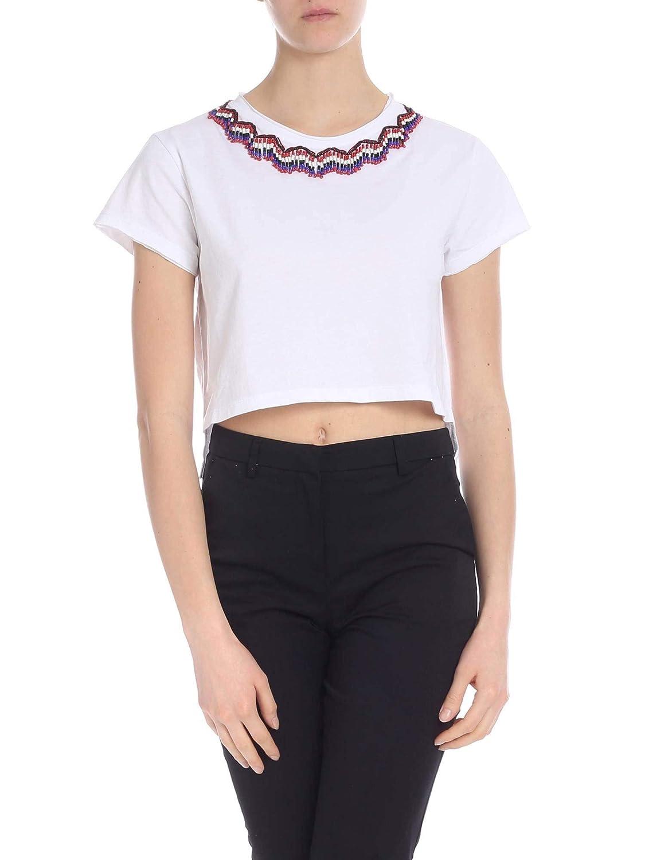 P.A.R.O.S.H. Women's D110606009 White Cotton TShirt