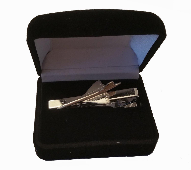Pince ou Épingle à Cravate Concorde Chromée Clivedon