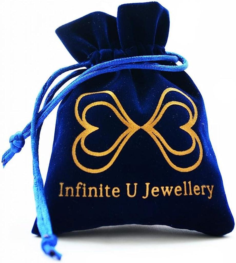 Infinite U Fashion 925 Argent Femme//Fille Creux Labyrinthe Cr/éoles Boucle doreilles pour Cadeau danniversaire Avec Sac Cadeau