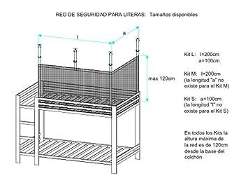 SleepSafe-Net. Red de seguridad para literas tamaño