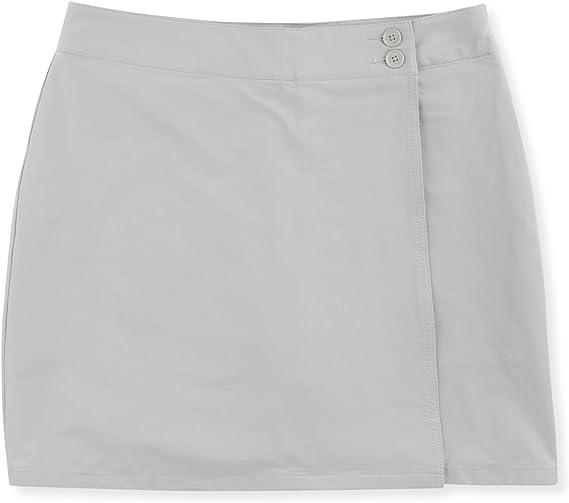 TALLA 14. Musto Womens Evolution Fast Dry Skort - Platinum - Tejido Transpirable, Absorbente y de Drying rápido para mantenerte Fresca y Dry