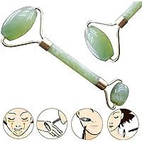Eachbid 1Pcs Rodillo Masaje de la Piedra del Jade para la Cara, Piedra Natural de Jade, Anti-envejecimiento Belleza Cuidado de la Piel Herramienta