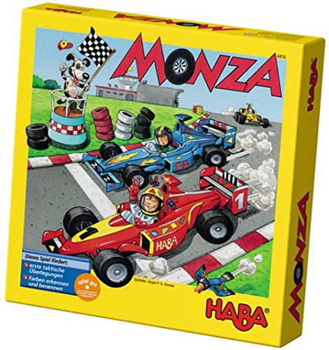 2017 Patch Block - HABA Monza - A Car Racing Beginner's Board Game Encourages Thinking Skills - Ages 5 and Up (Made in Germany)