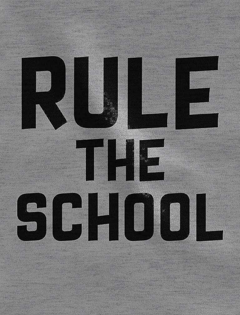 Tstars Rule The School Funny Back to School 3//4 Sleeve Baseball Jersey Toddler Shirt