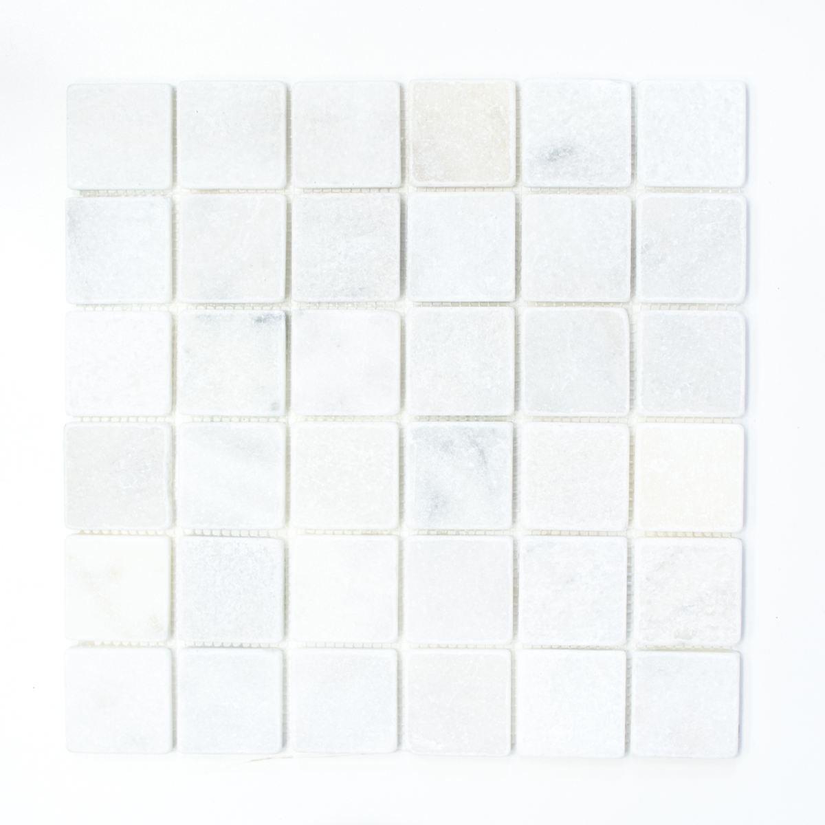 mosaico azulejos má rmol piedra natural blanco ibiza Antique Marble para pared bañ o inodoro ducha cocina azulejos Espejo Mostradores cubierta para bañ era. Mosaico Matte mosaico placa Mosaik-Netzwerk