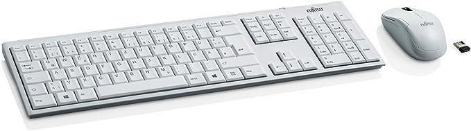 Fujitsu LX390 inalámbrico de Teclado ratón Combinación Color Blanco