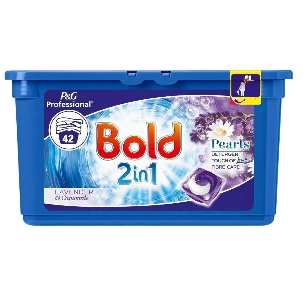 Bold 2 in 1 Lavender & Camomile Detergent and Fabric Softener 1 x 42 Washes