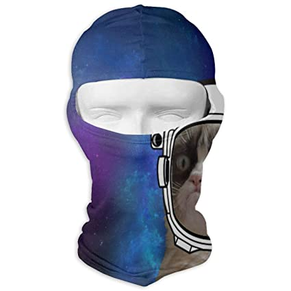 GREEDCLOUD Grumpy Cat in Space Full Face Masks UV Balaclava Hood Ski Sports  Cap Motorcycle Neck 402f9eb5170e