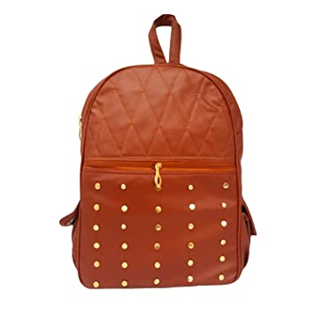 Brown Stylish Girls School Bag College Bag Backpack For Girls And