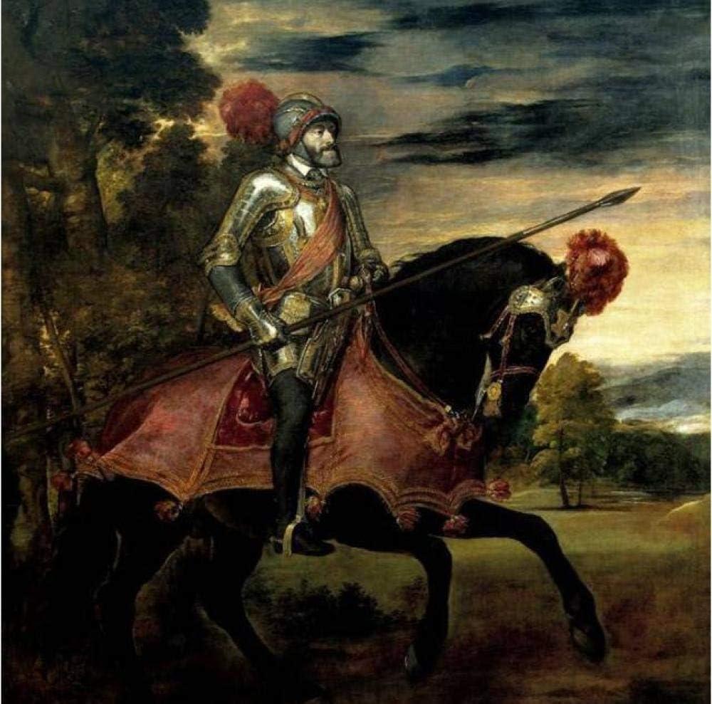 Las hermosas pinturas de las famosas pinturas de Velázquez para los caballos paisaje diy pintura al óleo digital Regalo único para decoración del hogar Artwork40 * 50cm