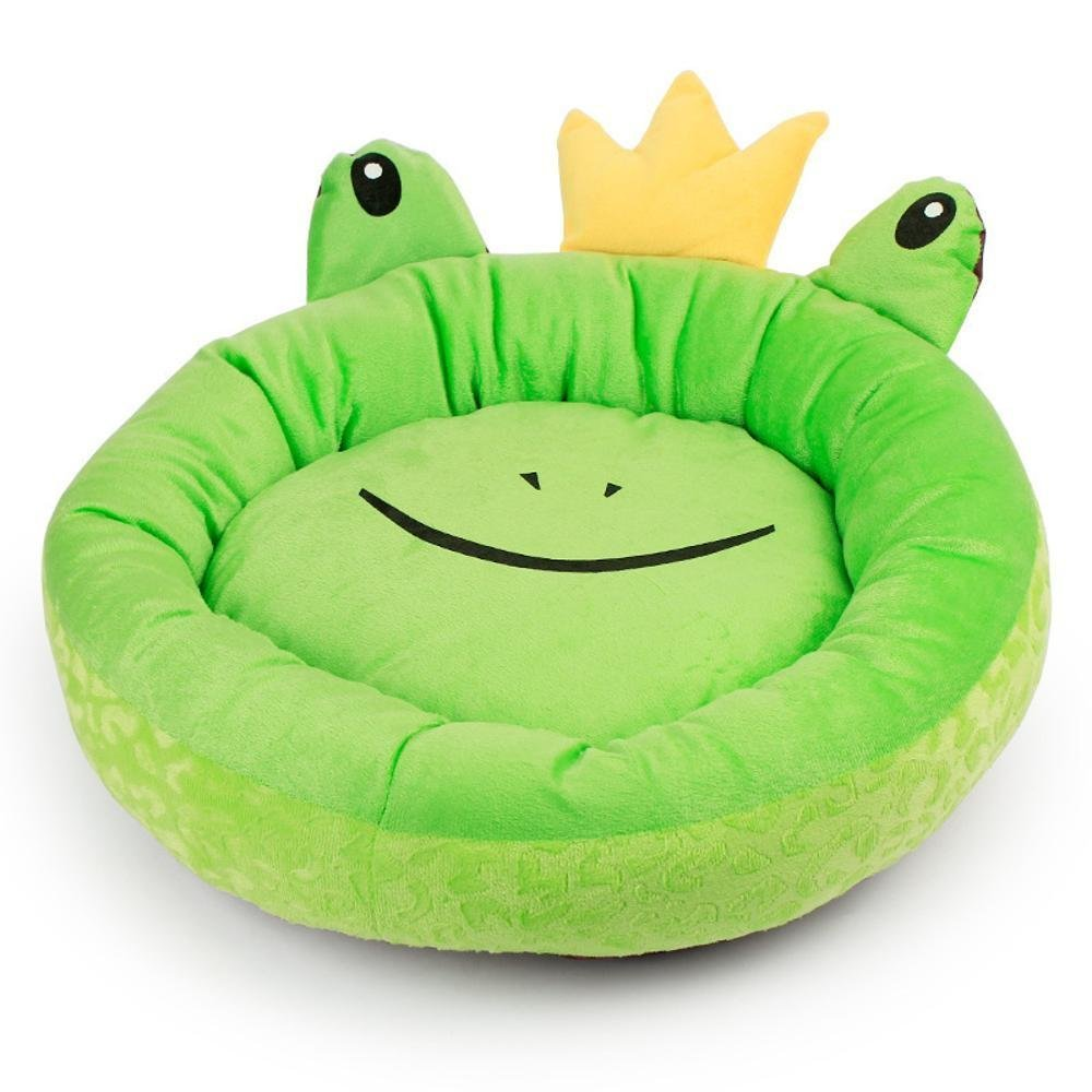 A 5015cm A 5015cm Gwanna Dog bed Pet round Nest Frog Mat size   Kennel Soft Pad for Pets Sleeping (color   A, Size   50  15cm)