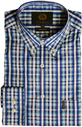 Viyella Camisa Formal - Rayas - con Botones - Manga Larga - para Hombre: Amazon.es: Ropa y accesorios