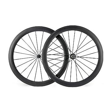hulk-sports Juego de ruedas para bicicleta de carretera de carbono Ruedas 700 C 23 mm Ancho 50 mm de profundidad con R13 Hub, 3K/UD: Amazon.es: Deportes y ...