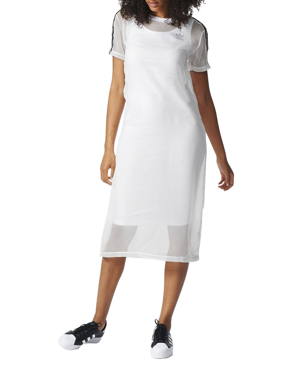adidas 3S Layer Dress Vestido, Mujer, Blanco, 34 BJ8188