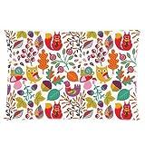 Custom Cartoon Owl with Flower Rectangle Soft Pillow Case Standard Size 16x24