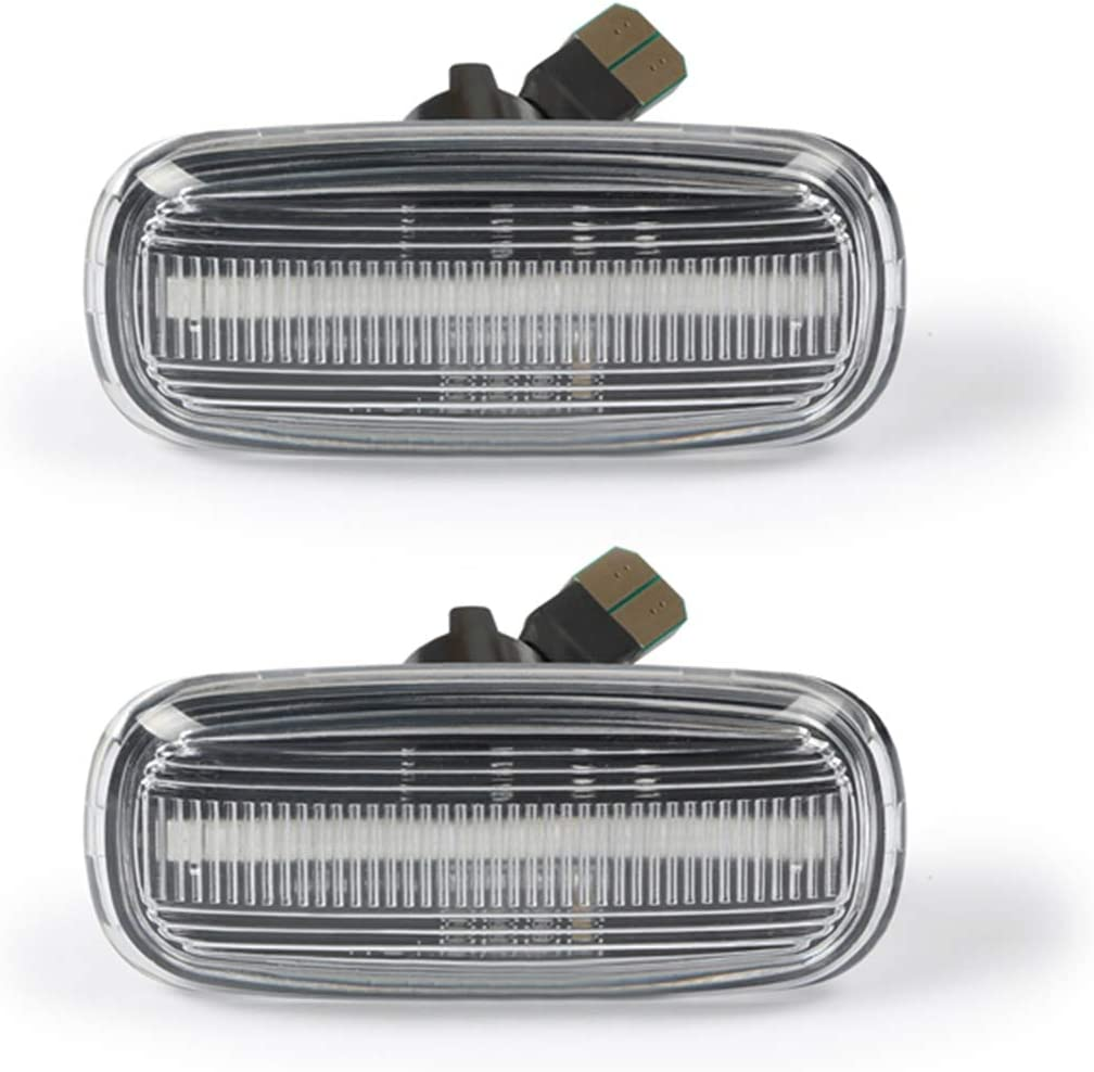 2 X Dynamic LED Side Marker 18 SMD Amber Turn Signal Light with CAN-bus Error Free Non-polarity Clear For AUD-I A2 A3 8L A4 B5 A6 4B C5 A8 4D TT 8N OZ-LAMPE Side Indicator