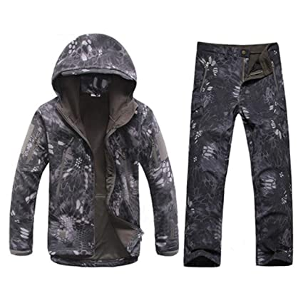 Hiking Clothings Us Army Military Men Waterproof Camo Tactical Hunting Camping Jacket Fleece Thermal Male Coat Outerwear Warm Camouflage Clothes