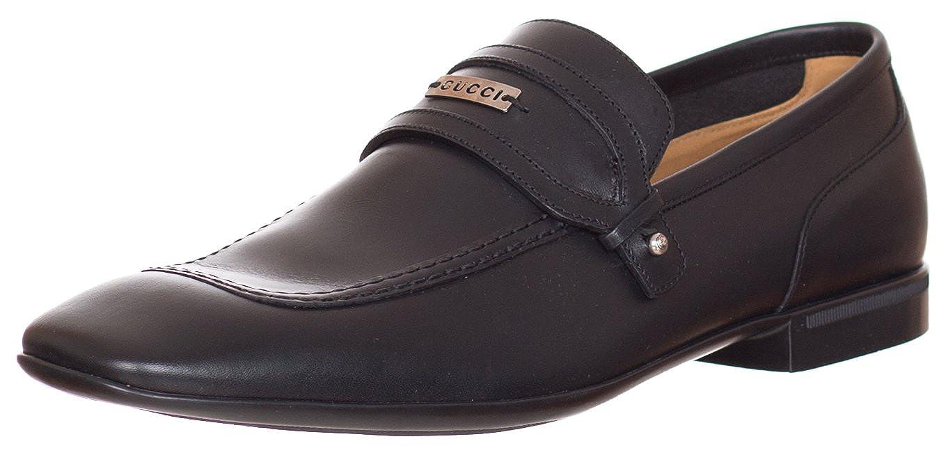 0fe8e9c96 Amazon.com: Gucci Men's Black Leather Loafers Shoes US 7: Shoes