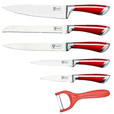 Compra Juego de 5 cuchillos y pelador Royalty Line RL-SS602 ...