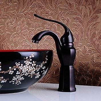 SL Modernen Retro Schwarz Bronze Kunst Ideen Neue Bad Waschbecken  Wasserhahn Warm / Kalt Wasserhahn,